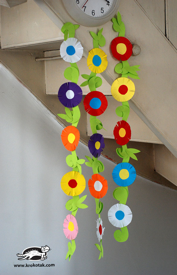 Classroom Decorations For Easter ~ Krokotak paper flower garland
