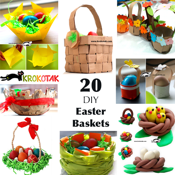 DIY baskets for kids