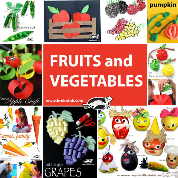 fruits-and-vegetables kids crafts
