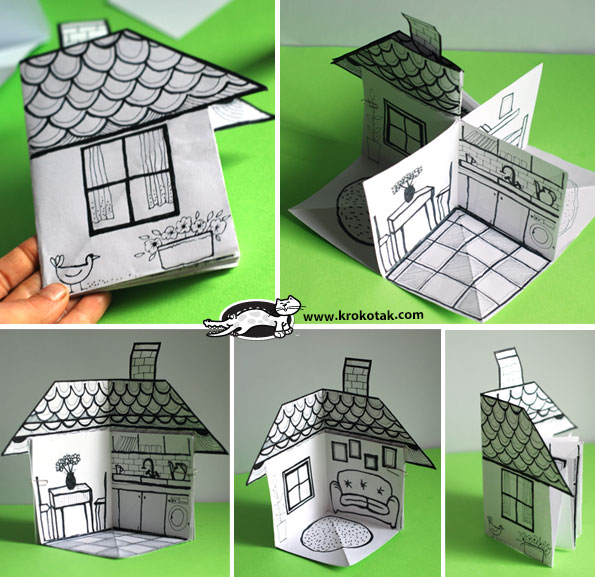 Krokotak How To Make A 3d Paper House
