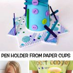 PEN HOLDER FROM PAPER CUPS
