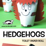HEDGEHOGS - toilet paper roll