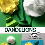 DANDELIONS with cotton pads