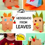 Hedgehog from leaves