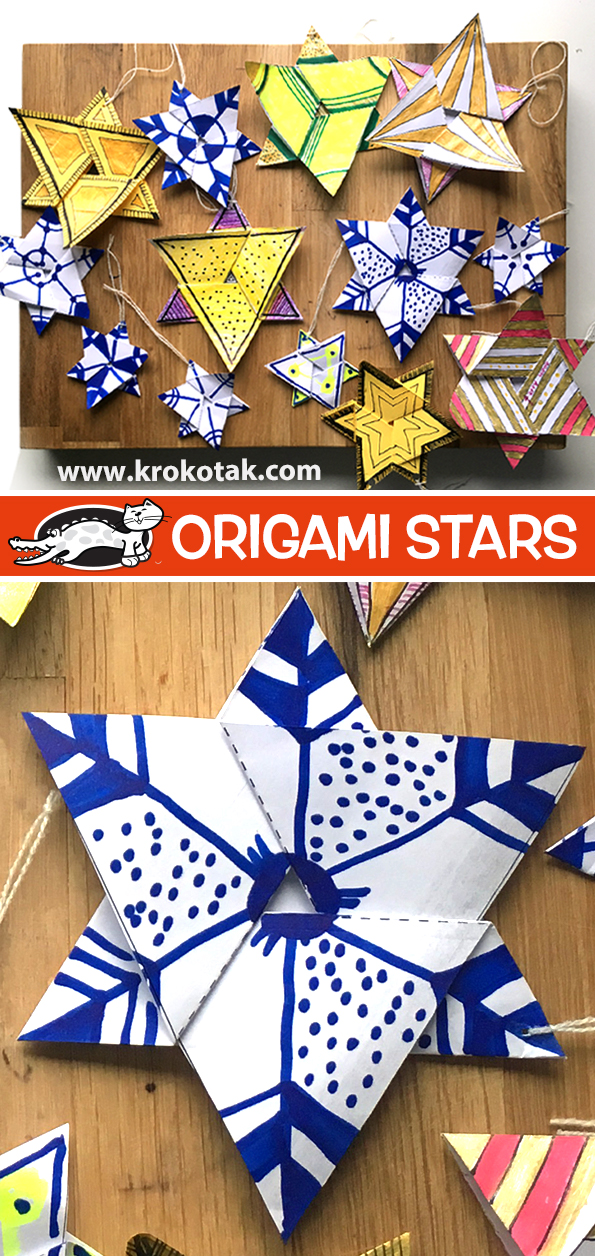 Origami Hexagon Puffy Star Tutorial - Paper Kawaii - YouTube | 1256x595
