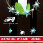 CHRISTMAS WREATH - candle