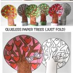 Glueless  Paper TREES (JUST FOLD)