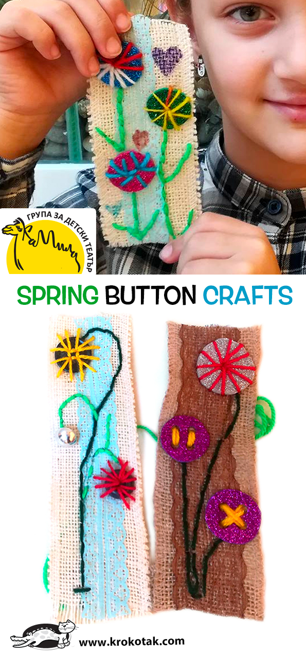 Krokotak Spring Button Crafts