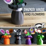 PAPER VASE AND FLOWERS