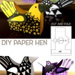 DIY PAPER HEN - CUT AND FOLD