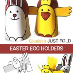EASTER EGG HOLDERS ( Glueless JUST FOLD)