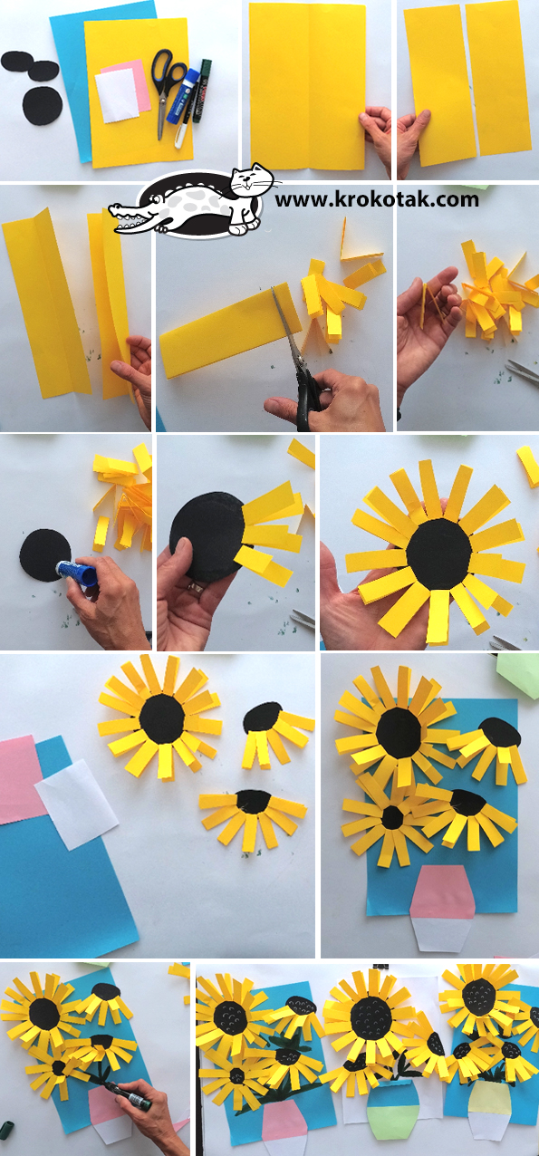 Krokotak Van Gogh Sunflowers Craft