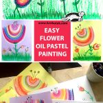 EASY FLOWER OIL PASTEL PAINTING