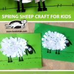 SPRING SHEEP CRAFT FOR KIDS