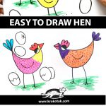 EASY TO DRAW HEN