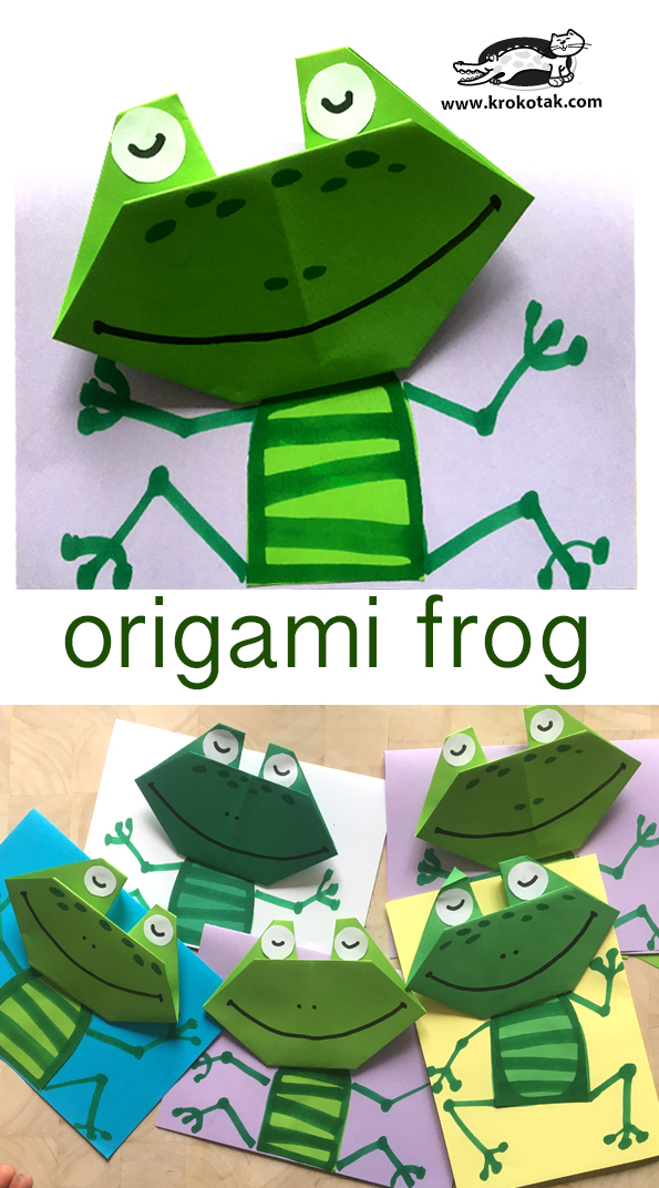 How To Make a Paper Jumping Frog - EASY Origami - YouTube | 1072x595