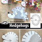 HEDGEHOGS- paper craft