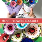 HEART FLOWERS BOUQUET