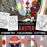 EASTER (SYMMETRY - COLOURING - CUTTING)
