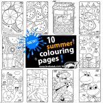 10 NEW summer colouring pages