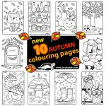 NEW 10  FALL COLOURING PAGES