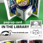 pop-up card:  IN THE LIBRARY